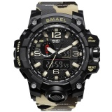Top 10 Smael Brand Men Watch Dual Time Camouflage Military Watch Digital Watch Led Wristwatch 50M Waterproof Sport Watch Men Clock 1545B Intl