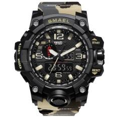 Price Compare Smael Brand Men Watch Dual Time Camouflage Military Watch Digital Watch Led Wristwatch 50M Waterproof Sport Watch Men Clock 1545B Intl