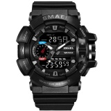 Smael Brand Watch 1436 Men Gold Sports Watch Led Quartz Dual Time Display Outdoor Military Waterproof Electronic Wristwatch Relogi Intl Coupon