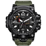 Lowest Price Smael Brand Watch 1545 Luxury Dual Display Watches Mens Military Quartz Watch Men Shock Resistant Sports Style Digital Clock Relogio Intl