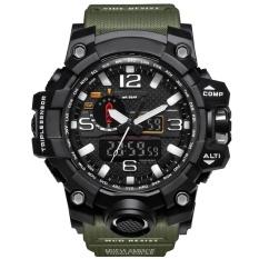 Best Smael Brand Watch 1545 Luxury Dual Display Watches Mens Military Quartz Watch Men Shock Resistant Sports Style Digital Clock Relogio Intl