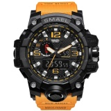 Sale Smael Brand Watch 1545 Luxury Dual Display Watches Mens Military Quartz Watch Men Shock Resistant Sports Style Digital Clock Relogio Intl Smael Cheap