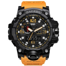 Smael Brand Watch 1545 Luxury Dual Display Watches Mens Military Quartz Watch Men Shock Resistant Sports Style Digital Clock Relogio Intl Coupon Code