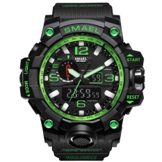 Deals For Smael Brand Watch 1545 Luxury Dual Display Watches Mens Military Quartz Watch Men Shock Resistant Sports Style Digital Clock Relogio Intl