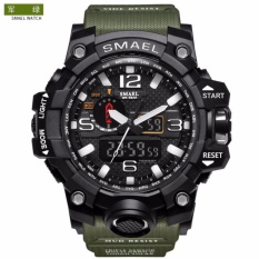 Smael Luxury Dual Display Watches Mens Military Quartz Watch Men Shock Resistant Sports Style Digital Clock - Intl By Have Love Mall.