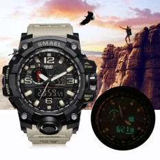 Best Deal Smael Multi Functional Dual Display Sport Watch Waterproof Electronic Wristwatch 4 Intl