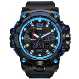 Smael Watch 1545 S Shock Series Of Gold Jungle Luxury Style Outdoor Sports Mens Dual Display Electronics Watch Intl Reviews