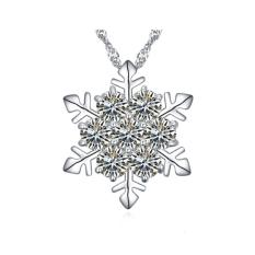 Cheapest Snowflake Crystal Necklace Made With Swarovski Elements Clear Crystal Online