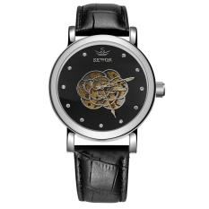Who Sells Sobuy Sewor Brand New Skeleton Hollow Fashion Mechanical Hand Wind Men Luxury Rose Male Business Leather Strap Wrist Watch Xr1310 Silverblack Cheap