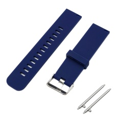 Soft Silicone Solid Color Adjustable Replacement Watchband Quick Release Needle Buckle Watch Band Metal Clasp Wrist Band Strap For 22mm Men Women Watch Accessary - Intl By Stoneky.