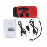 Price Solar Hand Crank Dynamo Lcd Radio Flashlight Usb Cellphone Charger Fm Am Red Intl Oem China