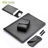 Buy Soyan Leather Sleeve With Mouse Pad Power Supply Bag Mouse Cover Bobbin Winder For Macbook Pro 13 Inch 2016 Black Intl Soyan Cheap