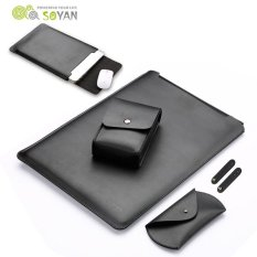 Buy Soyan Leather Sleeve With Mouse Pad Power Supply Bag Mouse Cover Bobbin Winder For Macbook Pro 13 Inch 2016 Black Intl Online China