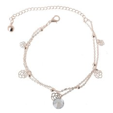 Sporter Women Charm Gold Plated Anklets Trendy Carving Hollow Ankle Bracelet Foot Chain Gold - intl