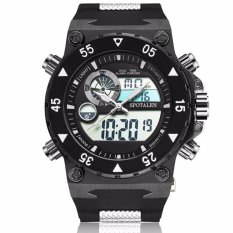 Coupon Spotalen 1704 Silicone Strap Men Sports Watches Waterproof Digital Led Military Watch Men Outdoor Electronics Wristwatches Black Intl