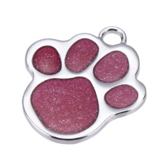 Stainless Steel Glitter Custom Pet Dog Tag Personalized Engraved Feet Card(pink) - Intl By Welcomehome.