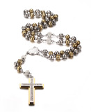 Price Stainless Steel Rosary Beads Catholic Long Chain Cross Necklace Gold And Silver Intl Oem Online