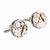 Who Sells The Cheapest Steampunk Vintage Mens Cufflinks Watch Movement Wedding Silver Cuff Links Intl Online