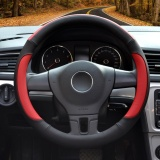 Review Steering Wheel Cover 39 40Cm Pu Leather Black And Red Size L Intl China