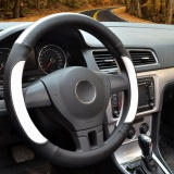 Discount Steering Wheel Cover 39 40Cm Pu Leather Black And White Size L Intl Yingjie China
