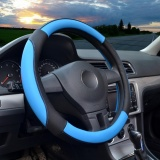 Retail Steering Wheel Covers 14 56 14 96 Pu Leather Blue M Intl