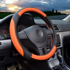 Cheapest Steering Wheel Covers 14 56 14 96 Pu Leather Orange M Intl