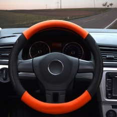 Buy Steering Wheel Covers 14 56 14 96 Pu Leather Orange M Intl Online China