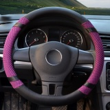 Review Steering Wheel Covers 15 35 15 74 Pu Leather Purple L Intl On China