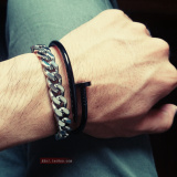 Best Reviews Of European And American Woven Stainless Steel Men S Bracelet