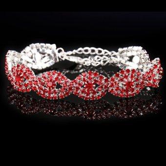 Stylish Women Crystal Rhinestone Bracelet Chain Bangle Bracelet