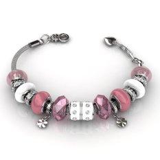 Buy Charm Bracelet Pink Crystals From Swarovski® On Singapore