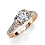 Sale Eve Ring Rose Gold Crystals From Swarovski® Her Jewellery Original
