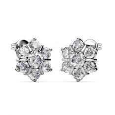 Price Flowery Earrings Crystals From Swarovski® Singapore