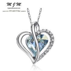 For Sale Mjm Swarovski Elements Austria Love Crystal Rhinestone Necklace