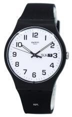 Swatch Originals Twice Again Quartz Men S Black Silicone Strap Watch Suob705 Reviews