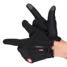 Sweatbuy 1 Pair Full Finger Touch Screen Motorcycle Winter Warm Ski Gloves Waterproof Windproof Black M