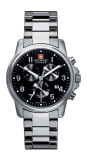 Cheap Swiss Military Hanowa Swiss Soldier Chrono Stainless Steel Bracelet Watch Sm12119Msn H02M Intl