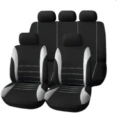 Best Deal T21620 Universal Car Seat Cover 9 Set Full Seat Covers For Crossovers Sedans Grey