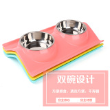 Sale Teddy Stainless Steel Double Bowl Pet Dog Bowl Other On China