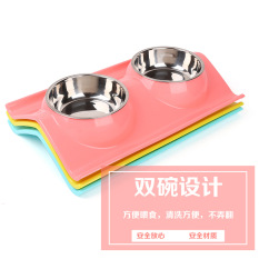Shop For Teddy Stainless Steel Double Bowl Pet Dog Bowl