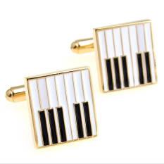 Recent The Linked Cuff Piano Keys Gold Cufflinks