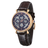 Wholesale Thomas Earnshaw Grand Calendar Es 8043 05 Men S Brown Genuine Leather Strap Watch Intl