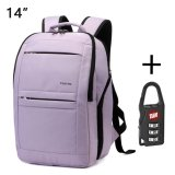 Price Comparison For Tigernu Anti Theft Waterproof Sch**l College Teenager Laptop Backpack For 10 1 14 Inches Laptop Light Purple Intl