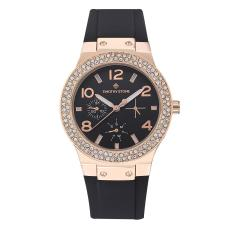 Sale Timothy Stone Women S Facon Silicone Rose Gold Tone And Black Strap Watch Intl On United States