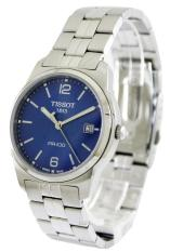Buy Tissot Classic Pr 100 Men S Silver Tone Stainless Steel Strap Watch T049 410 11 047 01 Tissot Online