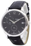Sale Tissot T Classic Tradition Gmt Men S Black Leather Strap Watch T063 639 16 057 00 Singapore Cheap