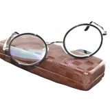 Discount Titanium Alloy Antirrflective Coated With Box Senator Round Retro Classical Duke S Reading Glasses 1 00 See Near Book Tv Computer Phone Newspaper