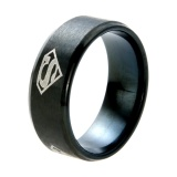 Sale Titanium Steel European Man Superman Ring Black Black One Size Intl Online On China