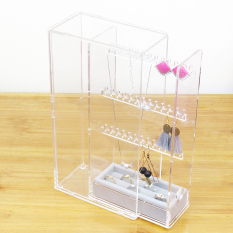 Transparent Dustproof Necklace Earrings Stud Jewlery Box Storage Rack Cheap
