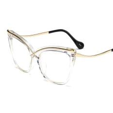 4e5257cc9b88 Transparent Cat Eye Glasses Frames for Women Luxury Black Vintage Sexy Clear  Lens Eyewear Cat Eye